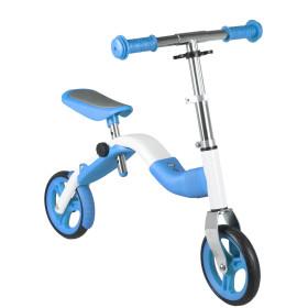 Två cyklar i en. Balanscykel & scooter 10 tum